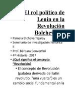El rol político de Lenin en la Revolución Bolchevique