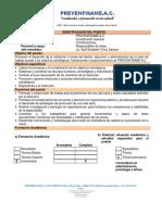 PERFIL DE PUESTO COORDINADOR GENERAL