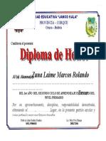Diploma de Honor 2