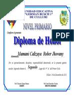 Diploma de Honor 10