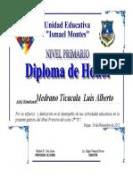 Diploma de Honor 2012