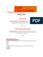 BANK EXAM QUESTION PAPERS