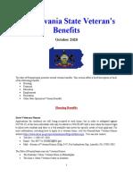 Vet State Benefits - PA 2020