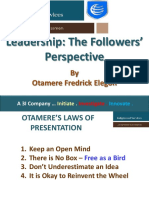 Leadership; The Followers' Perspective - For Corporate Organisations