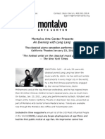 Montalvo Arts Center Presents An Evening with Lang Lang