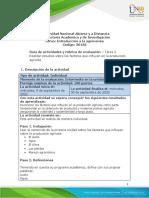Guia de actividades y Rúbrica de evaluación - Tarea 2 - Realizar estudios sobre los factores que influyen en la produccion agricola.pdf