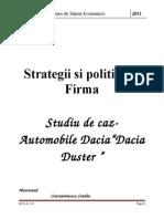 Strategii de Firma - Studiu de Caz - Dacia Duster