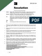 University of North Dakota Student Senate Resolution SR2021-04