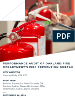 Oakland City Auditor Performance Audit Oakland Fire Department Prevention Bureau FINAL