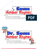 Dr Seuss number rhymes