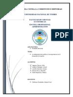 ADMINISTRACION PUBLICA EN LA REGION DE TUMBES