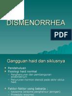 K48 - DISMENORRHEA ( GINEKOLOGI )