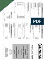 Conrad Citydruck & Copy GmbH Preisliste 2007