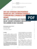 Estrategias basadas en arte para preescolar