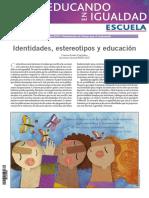 Identidades, estereotipos y educación