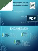 TAREA ENCABEZADO CNC