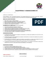 ELECTRÓNICA Y COMUNICACIONES 1 2 3 4 PERIODO 2011