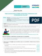 FICHA DE AUTOAPRENDIZAJE MATEMÁTICA -SESION EVALUACIÓN PRIMER GRADO SAID