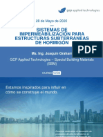 Webinar- Impermeabilizacion de estructuras subterraneas