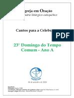 Caderno_23° Domingo Tempo Comum_A