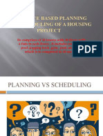 RESOURCE BASED PLANNING AND SCHEDULING OF