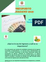 Presupuesto ciudadano 2020