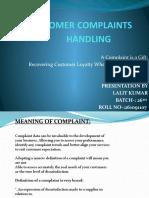 CUSTOMER COMPLAINTS HANDLING PPT