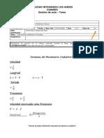 Movimiento Ondulatorio Formulas Tareas
