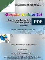 02 - Introdução à Gestão Ambiental e à Educação Ambiental - Aula 19-08-20