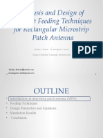 Analysis and Design of Different Feeding Techniques for Rectangular Microstrip Patch Antenna