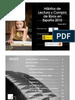 Hábitos de lectura y compra de libro en 2010