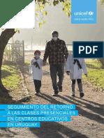 Seguimiento Del Retorno a Las Clases Presenciales en Centros Educativos en Uruguay