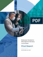 Pandemic Resurgence Advisory Committee Final Report 2020