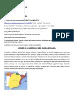 LENGUA Y LITERATURA ORIGEN Y DESARROLLO  DEL IDIOMA  ESPAÑOL