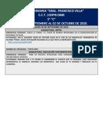 PLANEACION DEL 28-09 AL 02-10 5oC