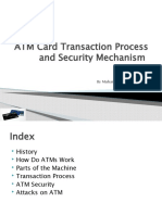 ATM Card Transaction Process and Security Mechanism