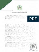 Payara Field Petroleum Production License