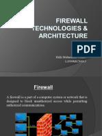 Firewall Technologies & Architecture