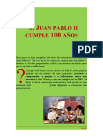 Librito reflexión Santos Gervasio y Protasio, 100 años del nacimiento de S. Juan Pablo II
