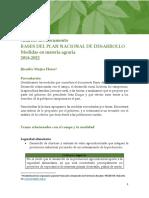 Medidas anunciadas en las Bases del PND en políticas agropecuarias_11 03 19