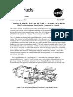 NASA Facts Control Module Functional Cargo Block (FGB)