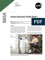 NASA Facts Human Research Facility Rack 1