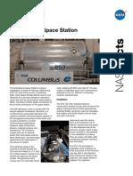 NASA Facts International Space Station Columbus Module