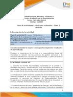 Guia de actividades y Rúbrica de evaluación - Unidad 1 - Fase 2 - Síntesis