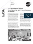 NASA Facts International Space Station Marshall Space Flight Center's Role in Develpment and Operations