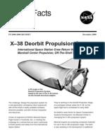 NASA Facts X-38 Deorbit Propulsion System