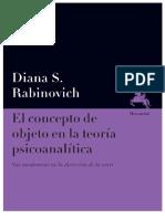 Rabinovich, D. - El concepto de objeto en la teoria psicoanalitica