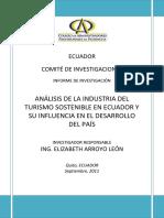 EL TURISMO SOSTENIBLE EN ECUADOR