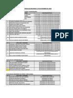 RELACION DE ENTREGA DE  DIPLOMAS 17 Y 18 DE SETIEMBRE DE 2020