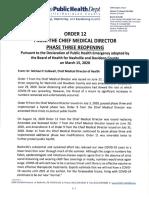 Public Health Order 12